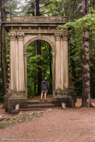 ruins at Mackenzie Estate in Gatineau Park