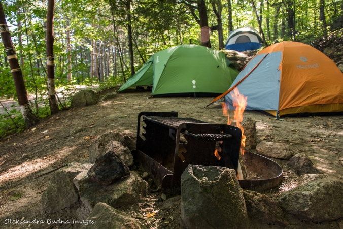 Campsite D11 at Lake Philippe Campground in Gatineau