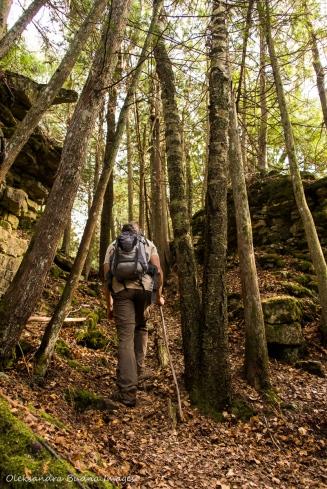 hiking Keyhole Trail at Nottawasaga Bluffs Conservation Area