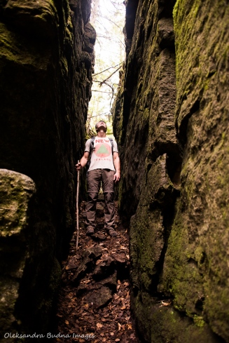hiking Keyhole Trail at Nottawasaga Bluffs Conservation Area