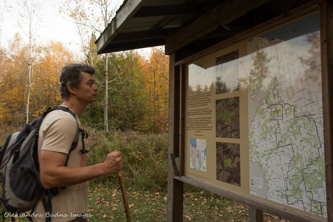 looking at the map at Nottawasaga Bluffs CA