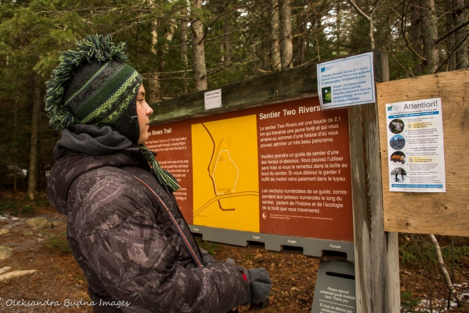 looking at the map of Two rivers trail
