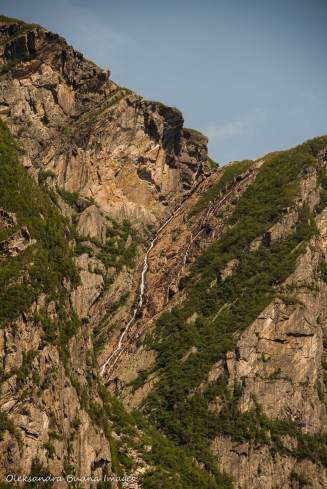 rock cliffs around Western Brook Pond in Gros Morne Park in Newfoundland