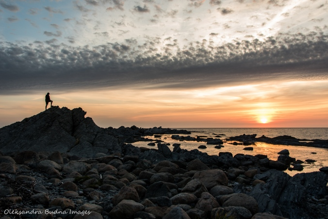 sunset at the Broom Point in Gros Morne park in Newfoundland