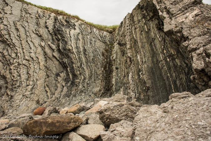 rock layers at Green Point in Gros Morne Park in Newfoundland