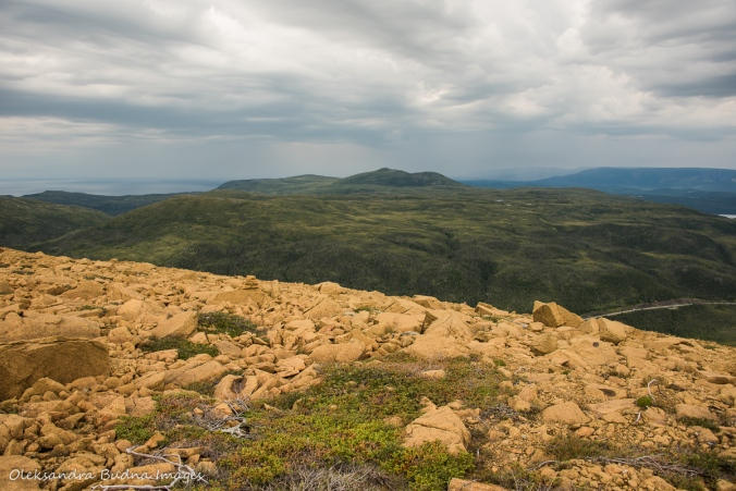 view from the Tablelands in Gros Morne in Newfoundland