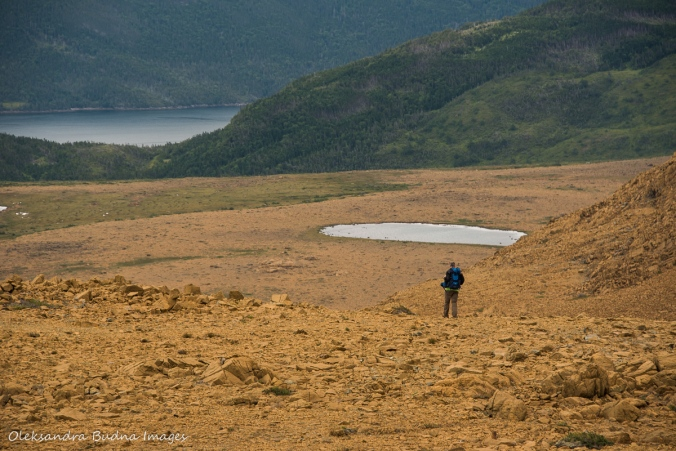 hiking the Tablelands in Gros Morne, Newfoundland