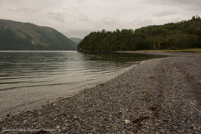 pebble beach at the end of Stanleyville Trail in Gros Morne, Newfoundland