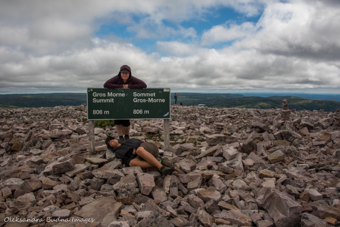 at the top of Gros Morne mountain in Newfoundland