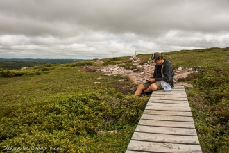 geocahing on Gros Morne Mountain in Newfoundland