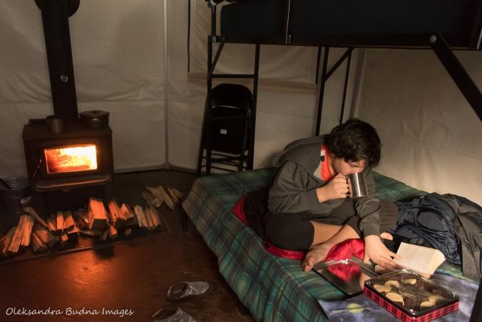 inside yurt 5 in Silent Lake Provincial Park