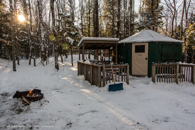 yurt 5 in Silent Lake in the winter