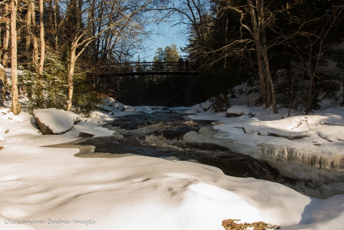 Stubb's Falls at Arrowhead Provincial Park in the winter