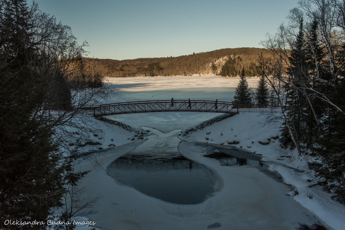 Arrowhead provincial park in the winter