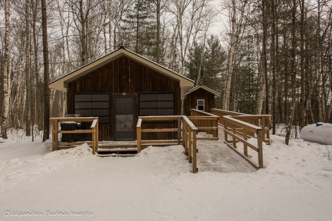 cabin 222 in Arrowhead provincial park in the winter