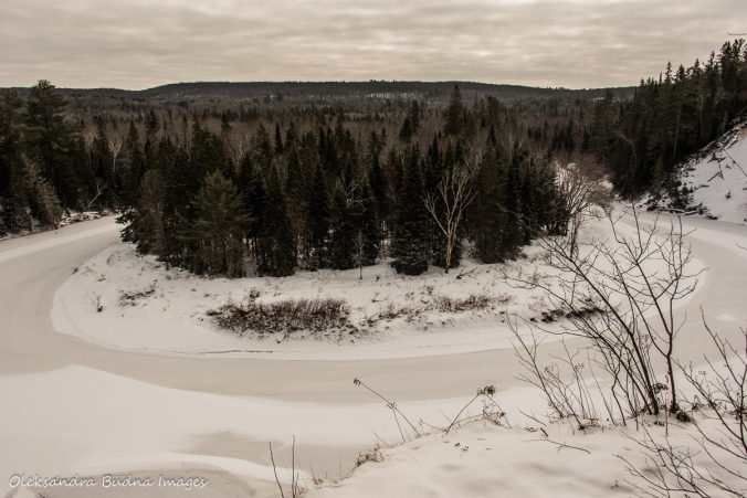 Big Bend in the winter at Arrowhead Provincial Park