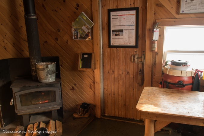 inside La Cigale cabin in parc national d'Aiguebelle