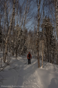 snowshoeing to Lac La Haie in Parc National d'Aiguebelle