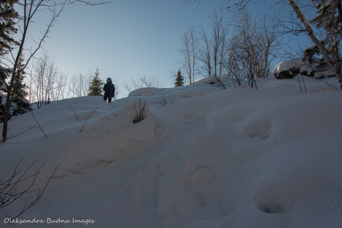 snowshoeing up to La Cigale rustic shelter in parc national d'Aiguebelle