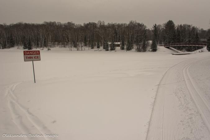 Arrowhead Lake in the winter