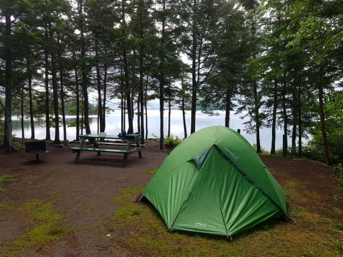 campsite at Dildo Run provincial park in Newfoundland