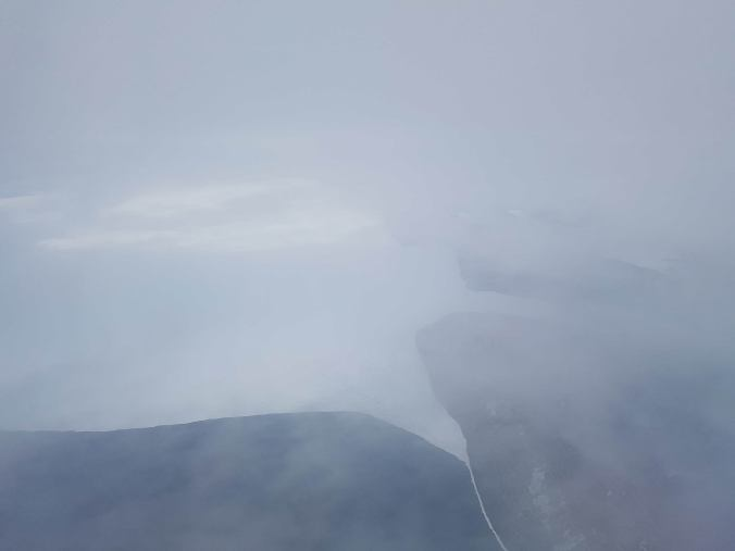 Lake Superior and Sleeping Giant from the airplane window