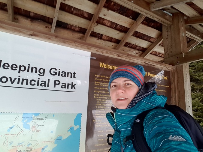 hiking at Sleeping Giant