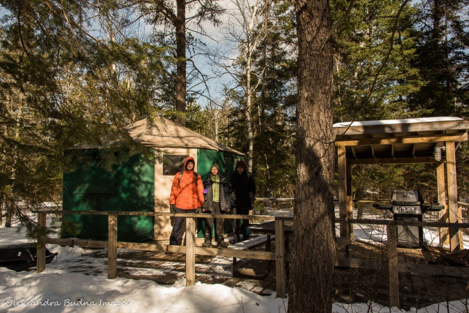 yurt in Windy Lake Provincial Park