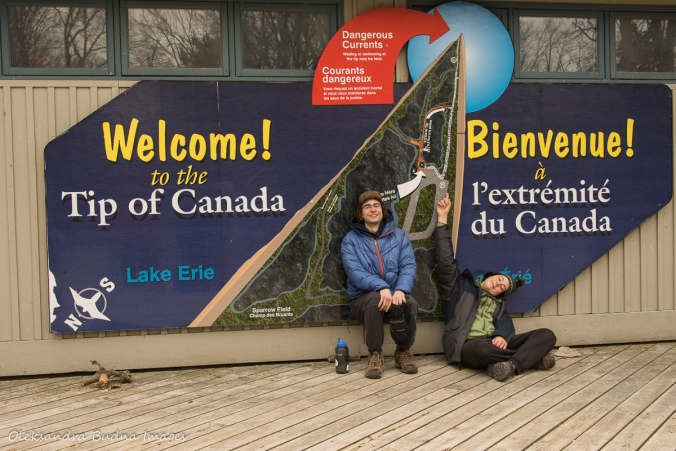 southernmost point of Canada sign