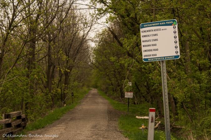 Escarpment Rail Trail in Hamilton, ON