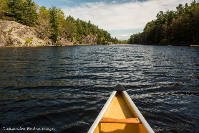 Canoeing on Compass Lake in Kawartha Highlands