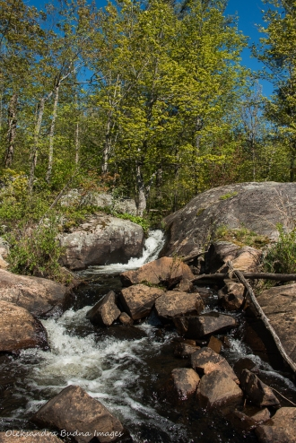 small waterfall in Kawartha Highlands