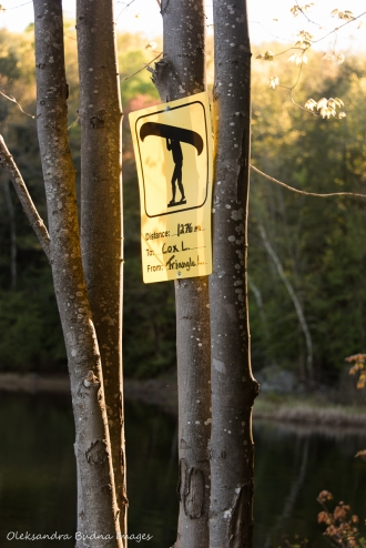 portage sign in Kawartha Highlands