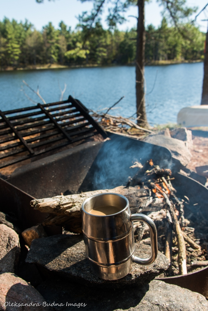 coffee near the campfire