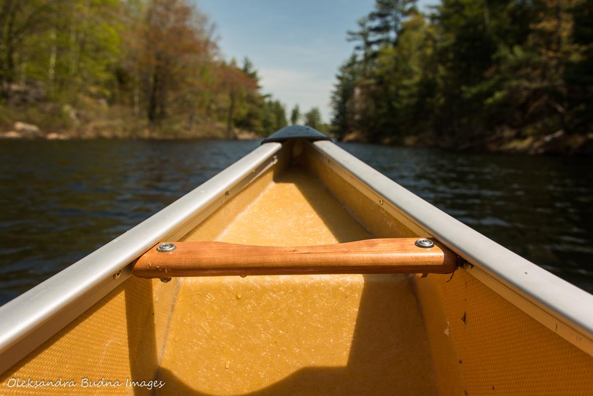 canoe bow on the lake