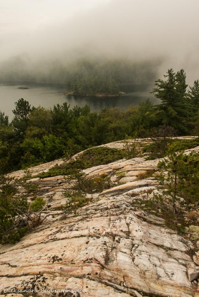 foggy morning over Grace Lake in Killarney