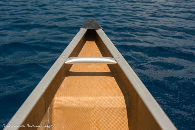 canoeing on nellie Lake in Killarney
