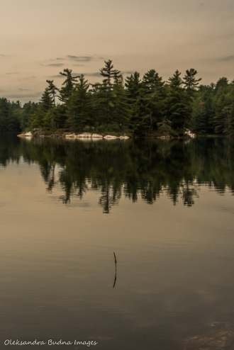 island on Grace Lake Provincial Park
