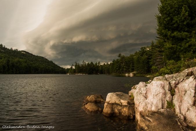 storm on Grace Lake in Killarney