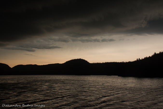 storm clouds over Grace Lake in Killarney