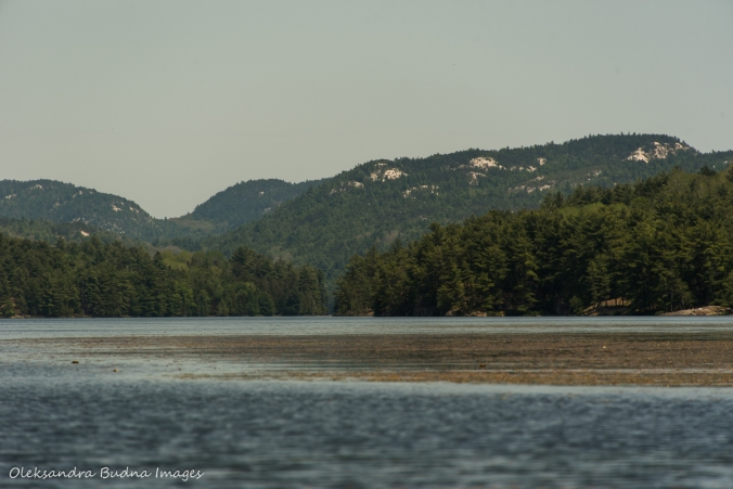 view of La Cloche mountains from Cranberry Bay near Killarney Provincial Park
