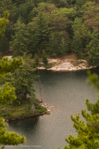 view of Grace Lake from La Cloche Mountains