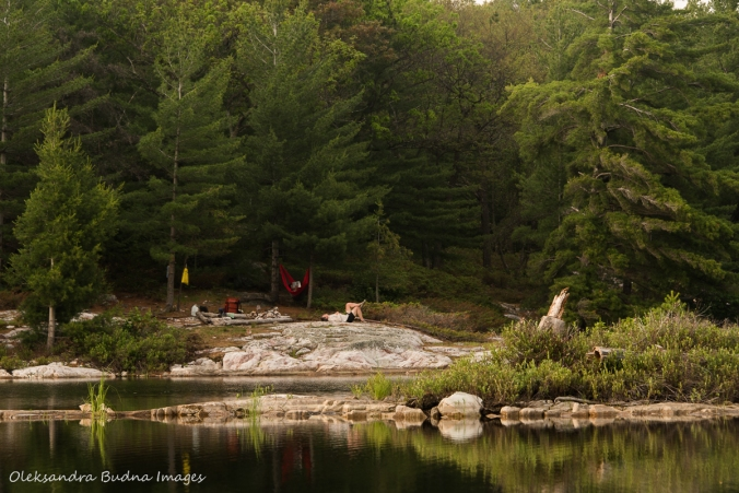 view of campsite 179 on Grace Lake in Killarney