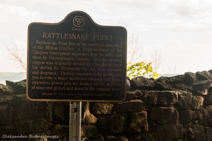Rattlesnake Point plaque