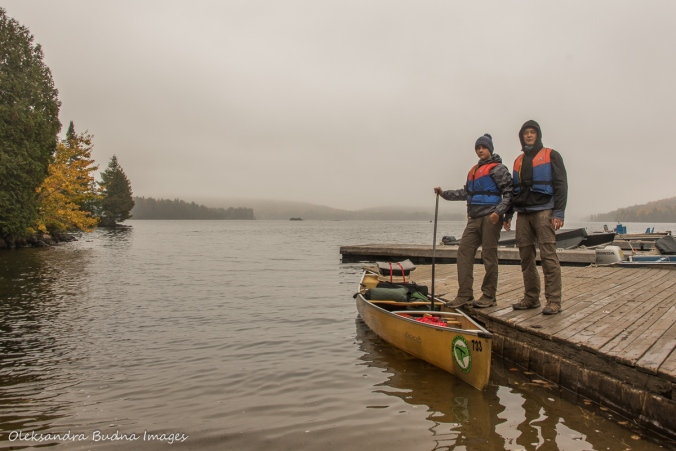 at the Smoke lake access point in Algonquin in the fall