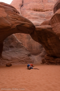 Sand Dune arch in Arched National Park