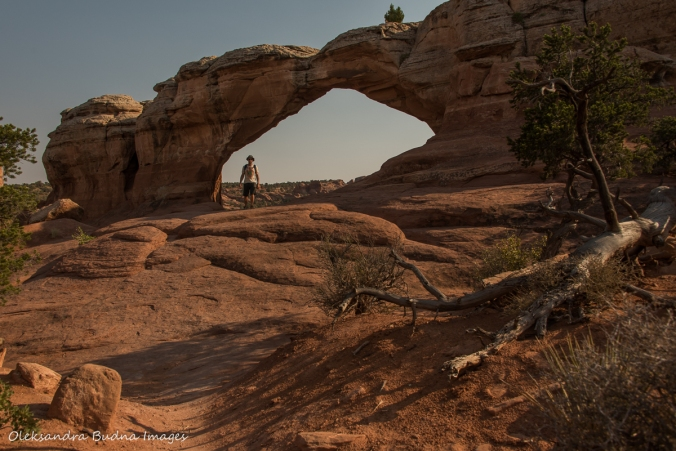 Broken arch in Arches National Park