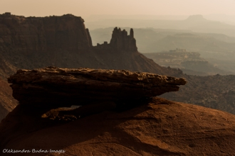 view from Grand View Point trail in Canyonlands Isaland in the Sky