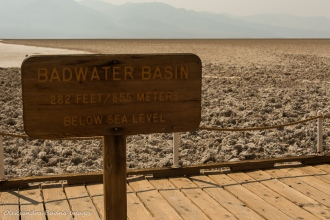 below sea level sign in Death Valley