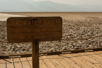 below sea level sign in Death Valley